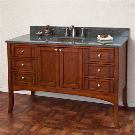 48 quot cadmon vanity cabinet with hammered copper sink