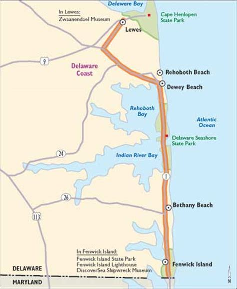 map maryland delaware beaches delaware scenic drives the delaware coast howstuffworks