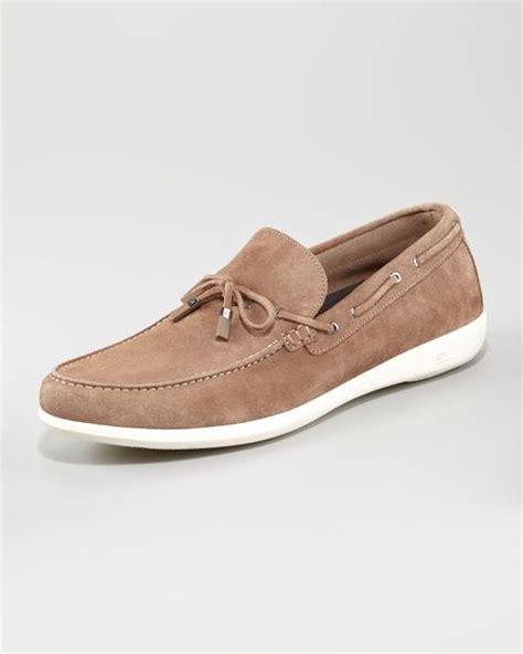 zegna boat shoes ermenegildo zegna hton suede boat shoe in brown for men