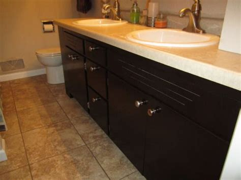 how to restain bathroom cabinets restaining oak cabinets for the home