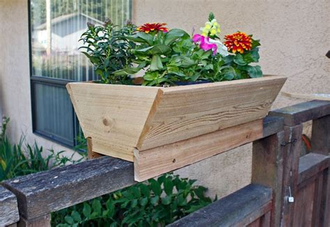 cedar planter for fence deck rail or patio set of 2 free