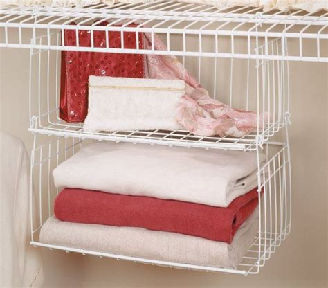 Closetmaid Hanging Organizer Wire Shelving Storage Baskets And Hanging Baskets On