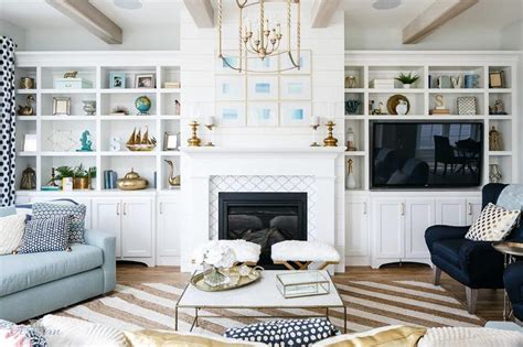 taupe blue living room