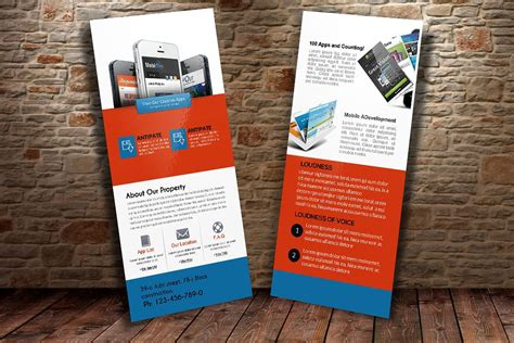 Pages App Rack Card Template by Mobile Apps Rack Card Template Card Templates Creative
