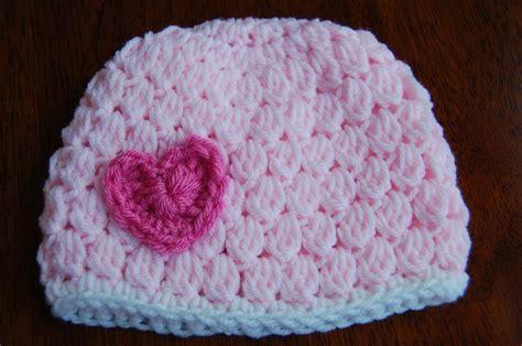 crochet pattern free video free girl s crochet hat pattern with heart
