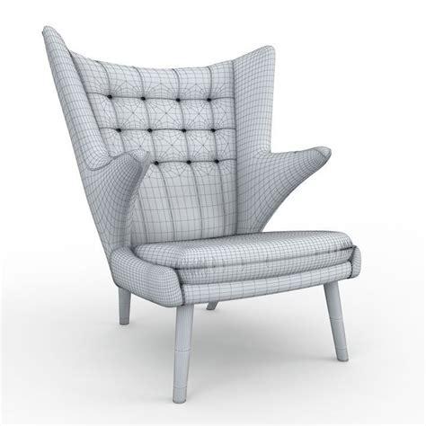 teddy armchair teddy bear armchair by pp mobler 3d model max obj fbx