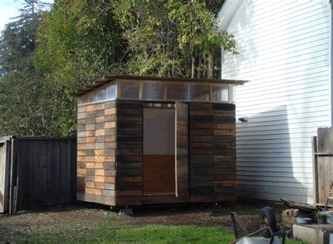 small backyard shed jetson green small shed with reclaimed rainscreen