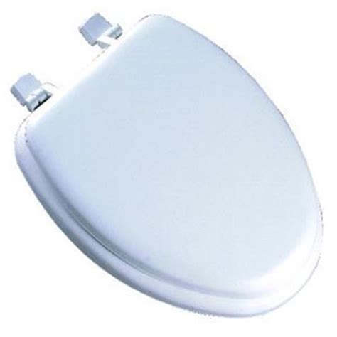 mayfair bemis white elongated deluxe soft toilet seat