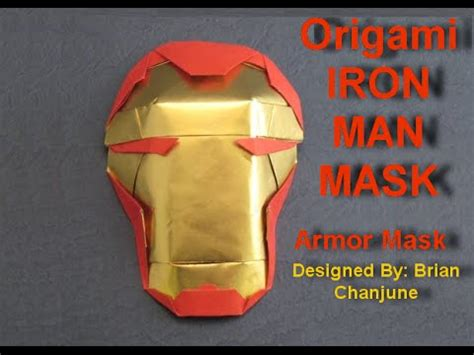 How To Make Iron Mask With Paper - origami iron mask hd