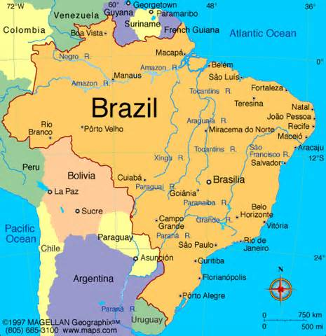 Image result for brazil map