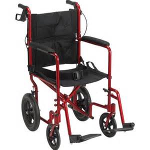 Expedition transport wheelchair with hand brakes red walmart com