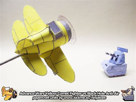 Advance Wars Papercraft - papercraft advance wars yc fighter vs bh aniti air by