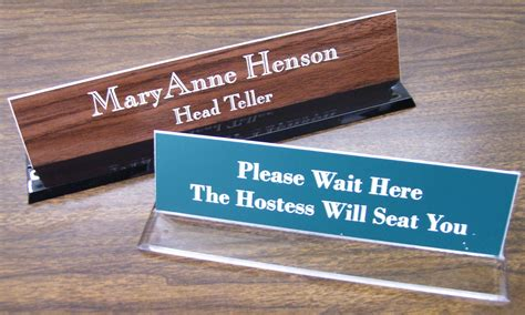 clear acrylic desk name plates tomasi s sports and awards recognition awards trophies