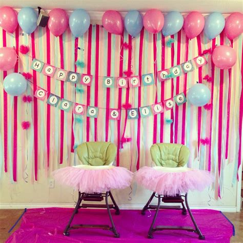 1st birthday decoration ideas at home birthday decoration ideas at home for luxury 1st birthday simple decorations image