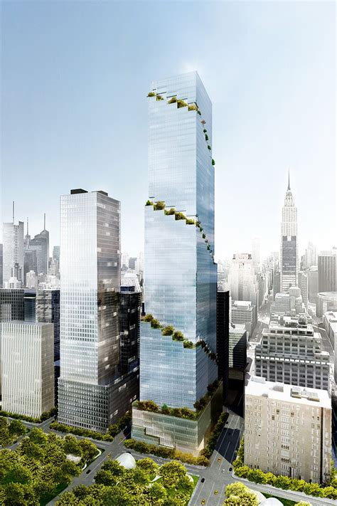 bid now the spiral office tower in new york by bjarke ingels