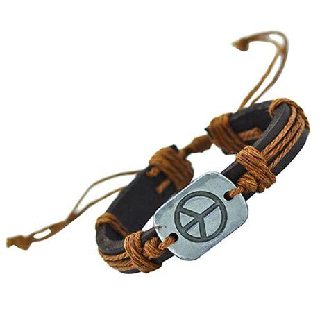 Handmade Bracelets Australia - handmade pu leather bracelet harmony tribal bohemian lb
