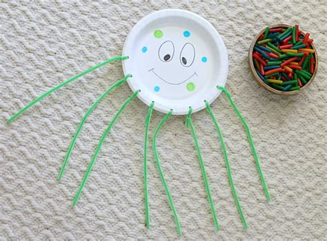 Paper Plate Octopus Craft - motor octopus craft for buggy and buddy