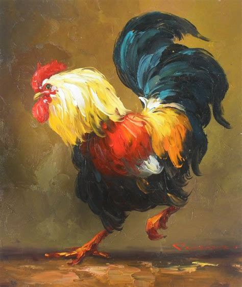 painting high rooster paintings high quality oill painting quot rooster 16