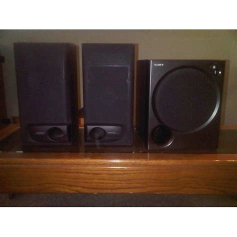 kenwood bookshelf speakers sony sub woofer self