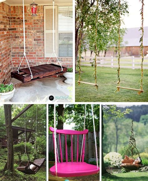 diy backyard swing diy swings outside gardening pinterest