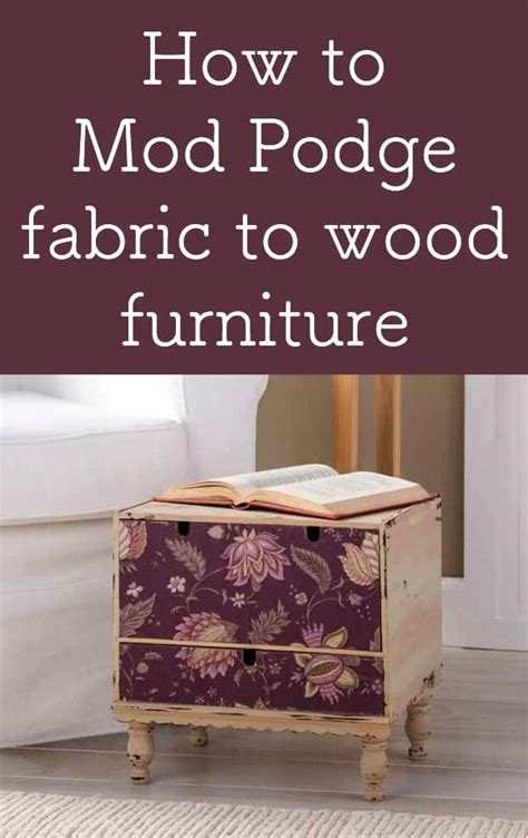 How To Decoupage Furniture With Mod Podge - how to mod podge fabric to wood furniture mod podge rocks