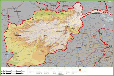 map of with towns large detailed map of afghanistan with cities and towns