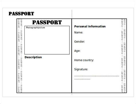 printable passport template passport templates free premium templates creative