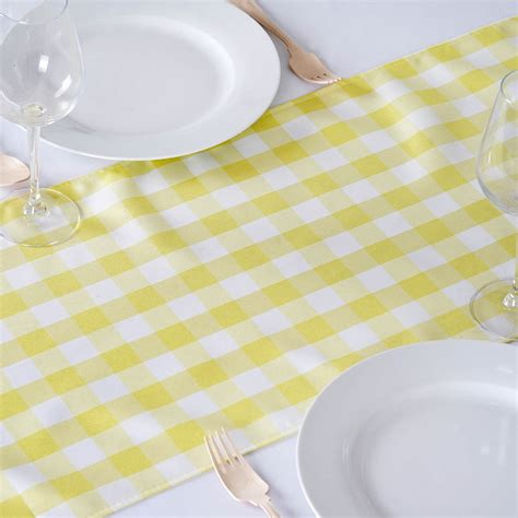 Checkered Table Runner by 6 Checkered Gingham Polyester Table Runners 14 X 108