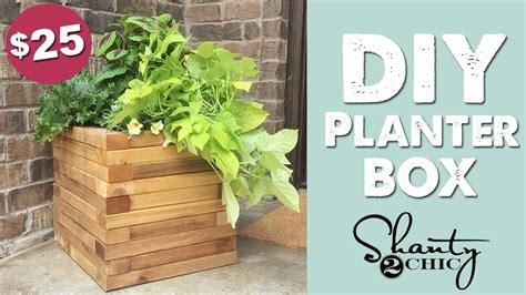 diy cedar planter box shantychic youtube