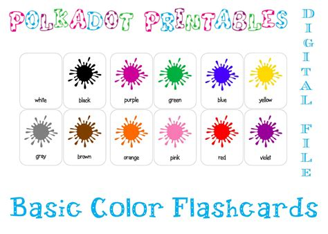 color flashcards color clipart flashcard pencil and in color color