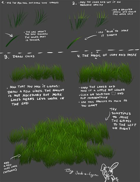 paint tool sai grass tutorial jacky s grass tutorial for lazy sai artists by