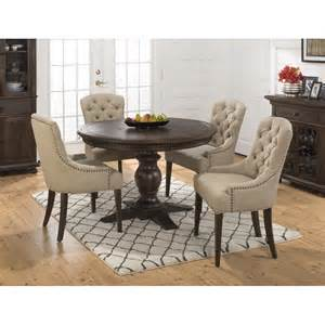 48 Round Table Fite How Many by Geneva Hills Round To Oval 5 Piece Dining Set With