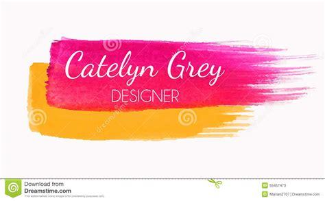 watercolor logo tutorial illustrator watercolor logo stock vector image 55457473
