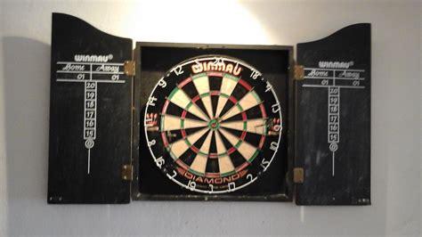 winmau dartboard in cabinet for sale winmau dart board with rosewood cabinet plus