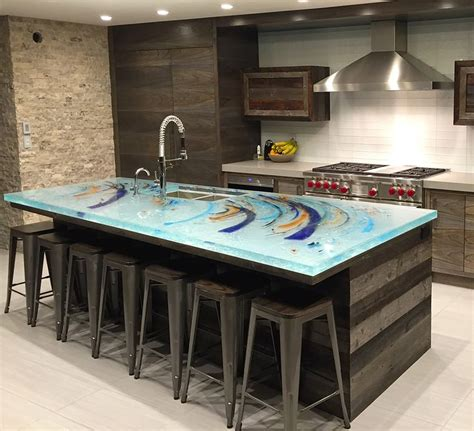 glass top kitchen island 66 best unique glass kitchen counter and island tops