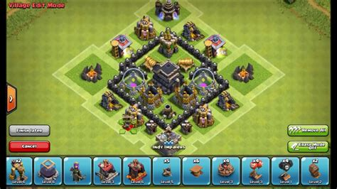 layout of coc th3 th3 base defense clash of clans town hall 3 base coc th3