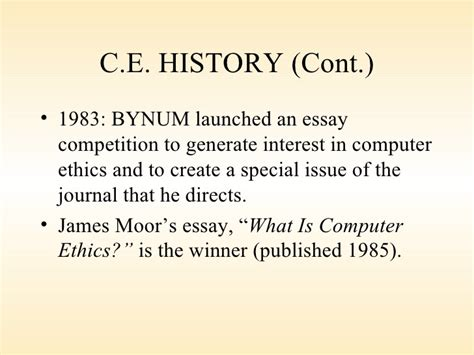 History Of Computer Essay by An Essay On History Of Computer The History Of Computers Information Technology Essay