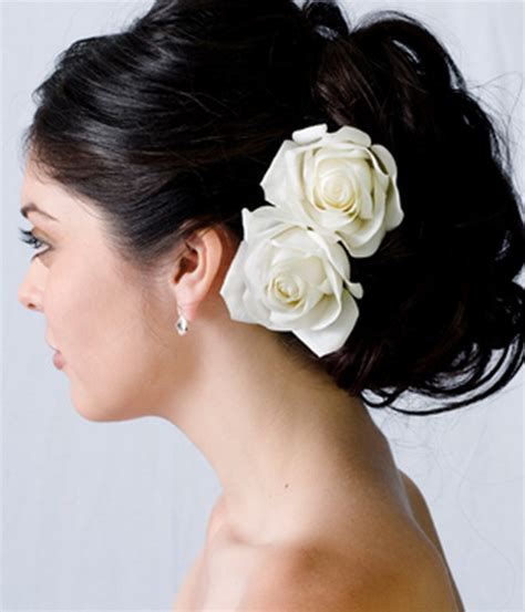bridal hairstyles with flowers wedding hairstyles for long hair with flowers