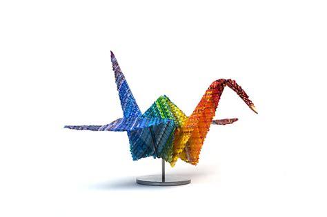 Origami Peace Cranes - markow norris inc rainbow peace crane