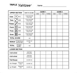 free printable yahtzee score sheets amp card calendar