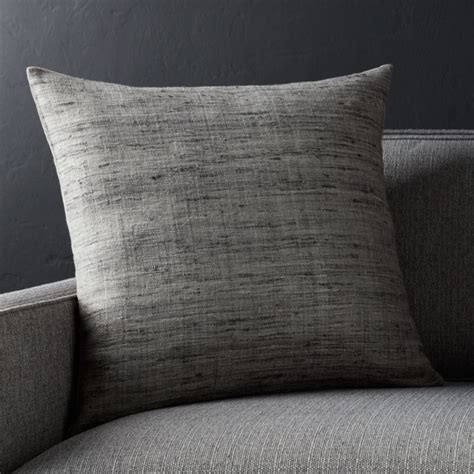 "20"" Grey Square Pillow   Crate and Barrel"