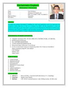 Mechatronics Engineer Sle Resume by Mechatronics Engineer Resume
