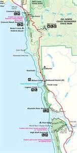 northern california coastline map northern california exploring the redwood coast