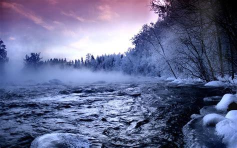 beautiful winter landscape    widescreen wallpaper