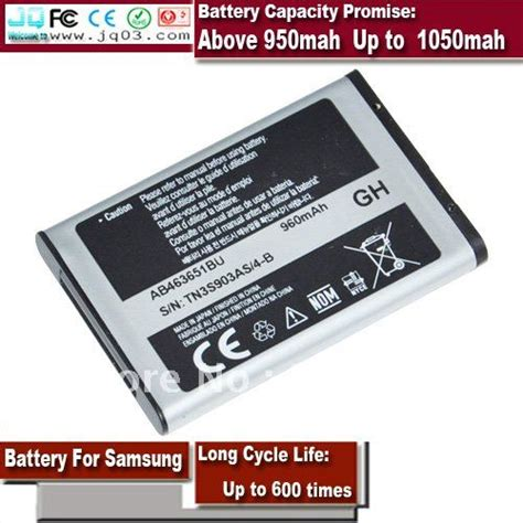 Battery Baterai Samsung D410 aliexpress buy battery for samsung gt c3322 sgh l700