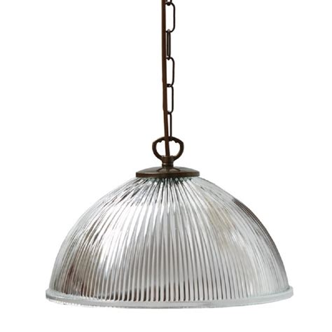 Hanging Pendant Light Hanging Ceiling Pendant Light With Ribbed Glass Shade On Antique Frame