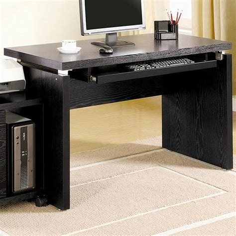 and black computer desk black computer desks with drawers review and photo