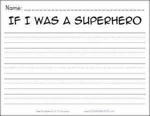 Was a superhero free printable k 2 writing prompt student handouts