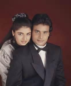 Bhagyashree with her husband himalaya dasani an old photo
