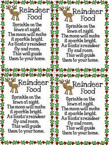 Poem printable free printable reindeer food poem reindeer food poem